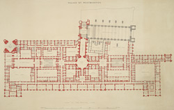 Palace of Westminster, plan of the principal floor